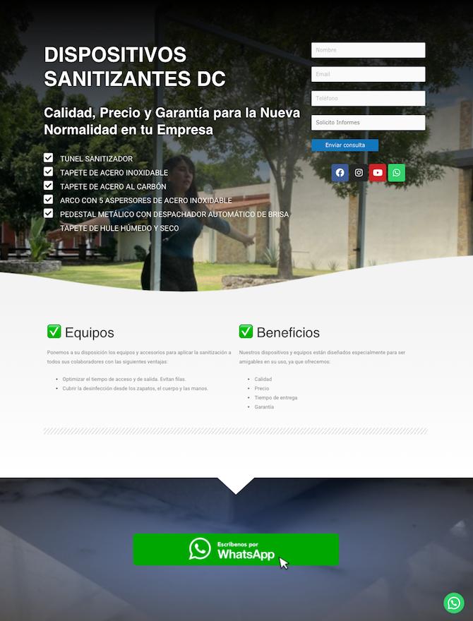 Landing Page pagina de aterrizaje portal web 4