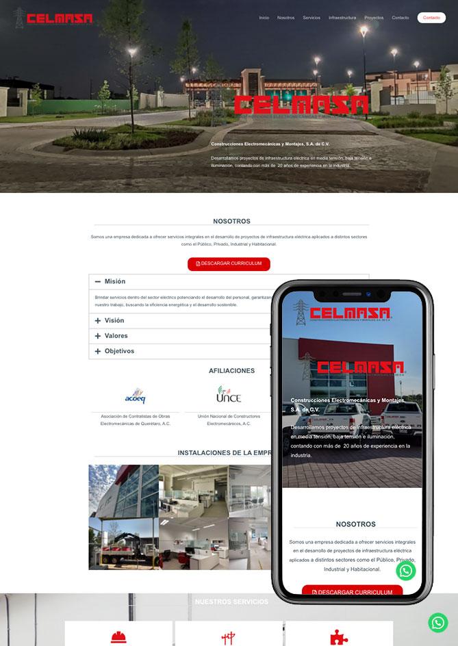 Proyecto Página Web Empresa en Querétaro Celmasa