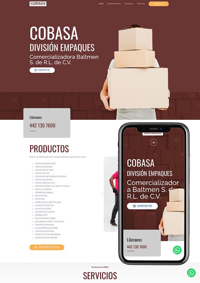 Proyecto Página Web Empresa en Querétaro Cobasa