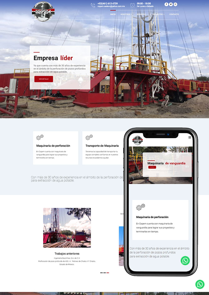 Proyecto Página Web Empresa en Querétaro Copem