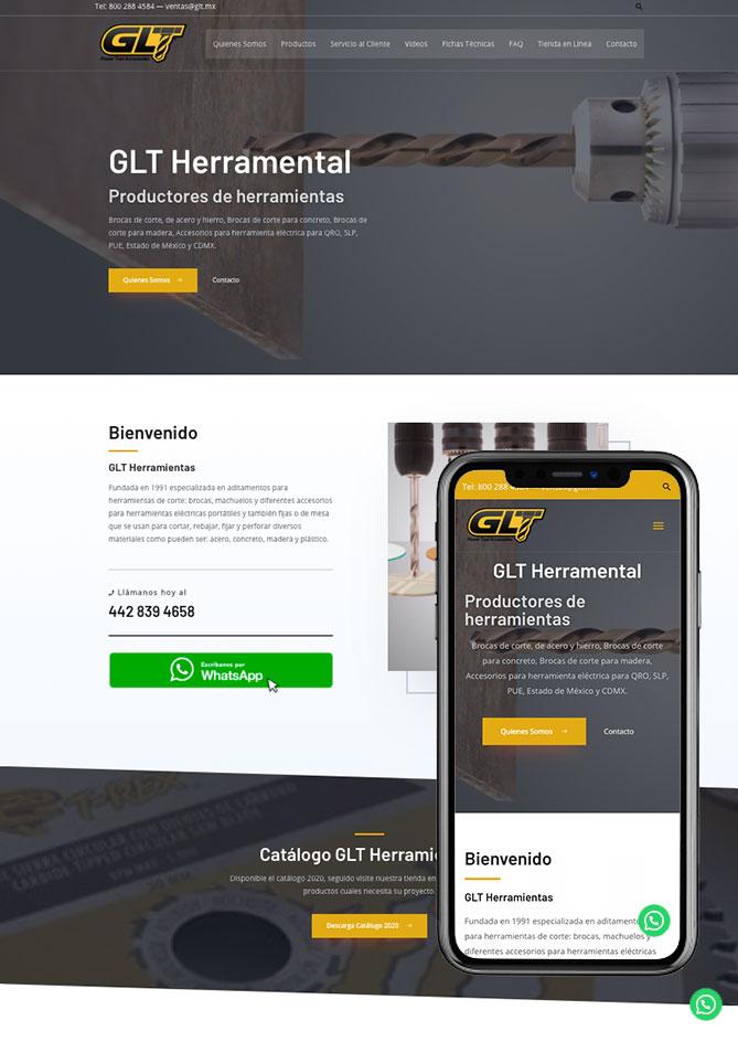 Proyecto Página Web Empresa en Querétaro Glt herramientas