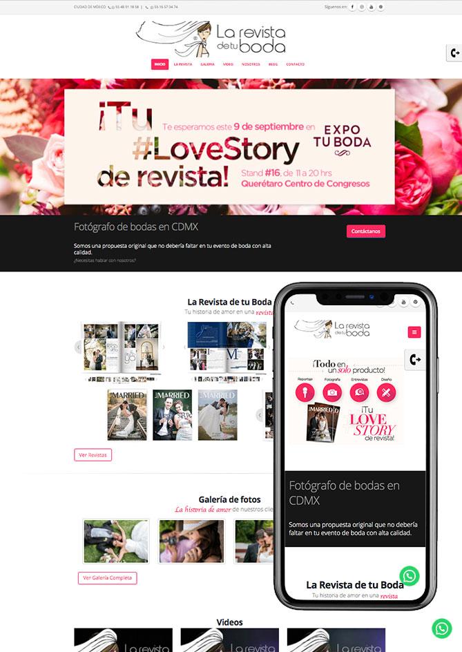 Proyecto Página Web Empresa en Querétaro LaRevistadetuBoda