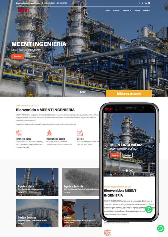 Proyecto Página Web Empresa en Querétaro Meet Ingeniería