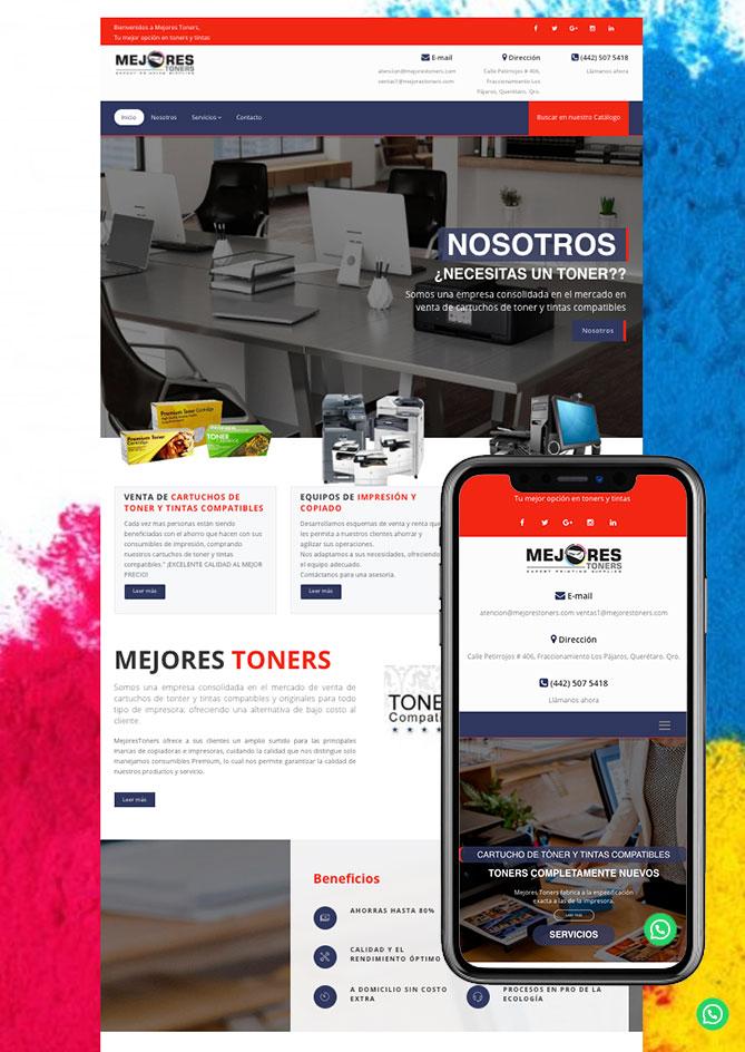 Proyecto Página Web Empresa en Querétaro Toners