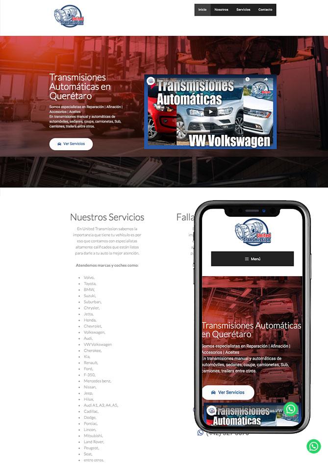 Proyecto Página Web Empresa en Querétaro Transmisiones Automáticas