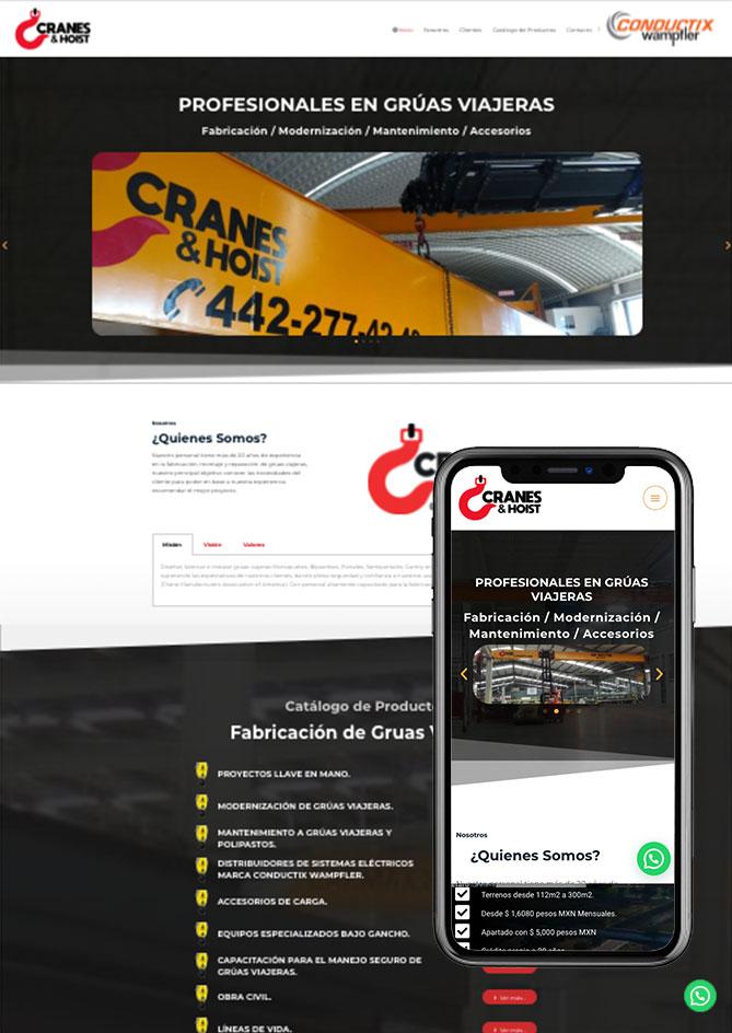 Proyecto Página Web Empresa en Querétaro Cranes