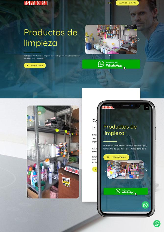Proyecto Página Web Empresa en Querétaro Limpieza procasa