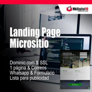 Plan Landing Page Micrositio