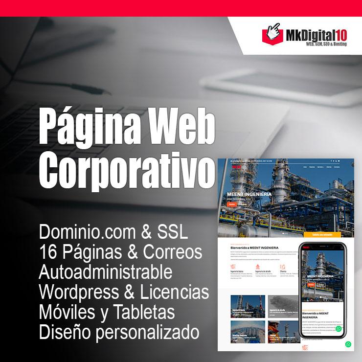 Plan Página Web Corporativo